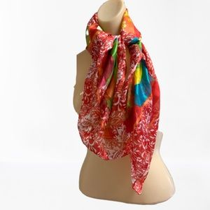 Accessories - VINTAGE FLORAL AND STRIPE SCARF WRAP BY BERKSHIRE